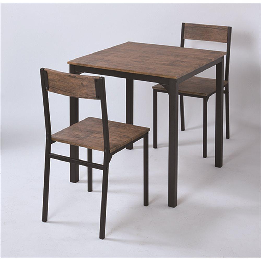 2人掛け用テーブル&チェア3点セット BR/BK