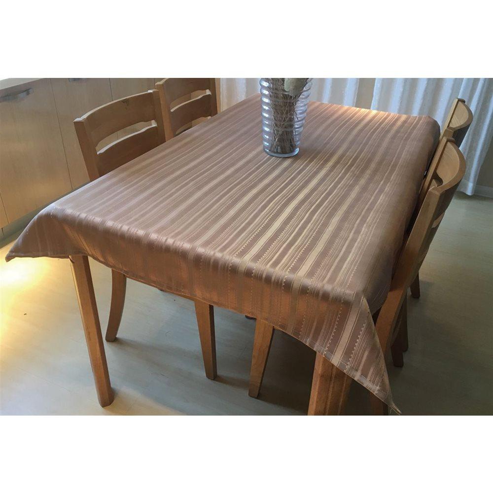撥水テーブルクロス 約120×150cm ベージュ