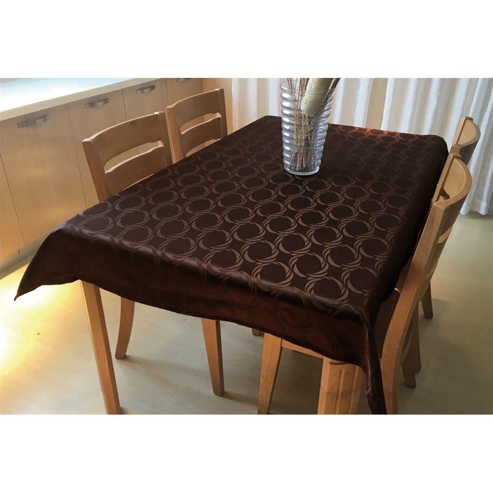 撥水テーブルクロス 約120×150cm ブラウン
