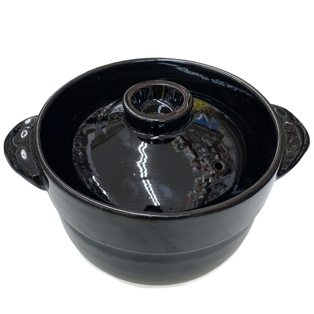 コーナン オリジナル LIFELEX(ライフレックス) レンジ&直火で炊ける炊飯土鍋2合 KHK05−2395