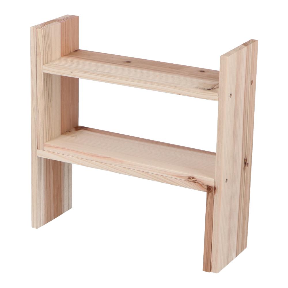 コーナン オリジナル LIFELEX  スライド木製棚キット 完成サイズ 約400X130X400mm 無塗装 MTK01-7664