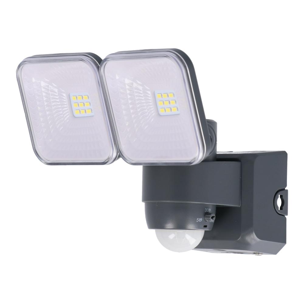 コーナン オリジナル LIFELEX 3Wソーラー式LED センサーライト2灯タイプ