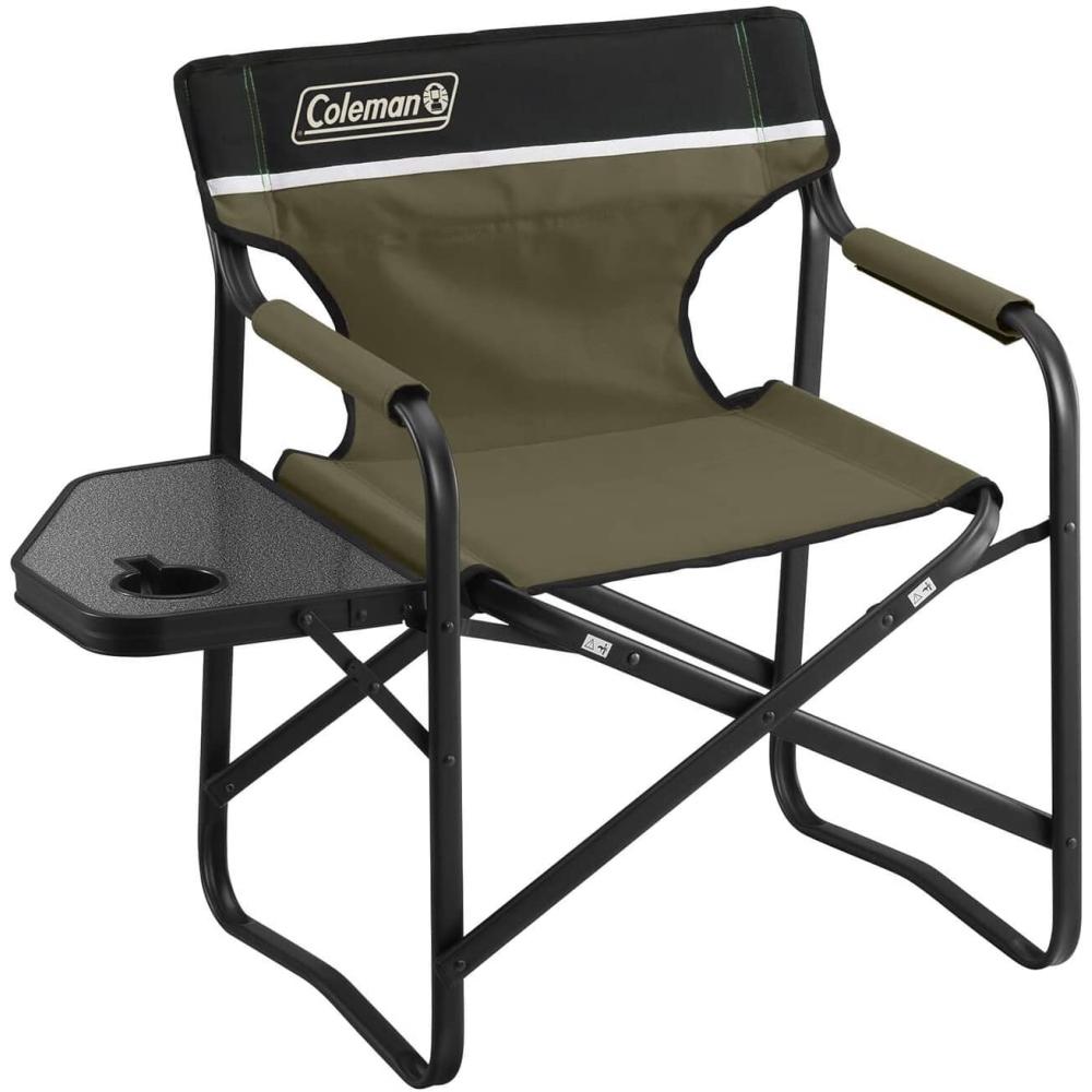 コールマン チェアサイドテーブルデッキチェア オリーブ 静止耐荷重:約100kg