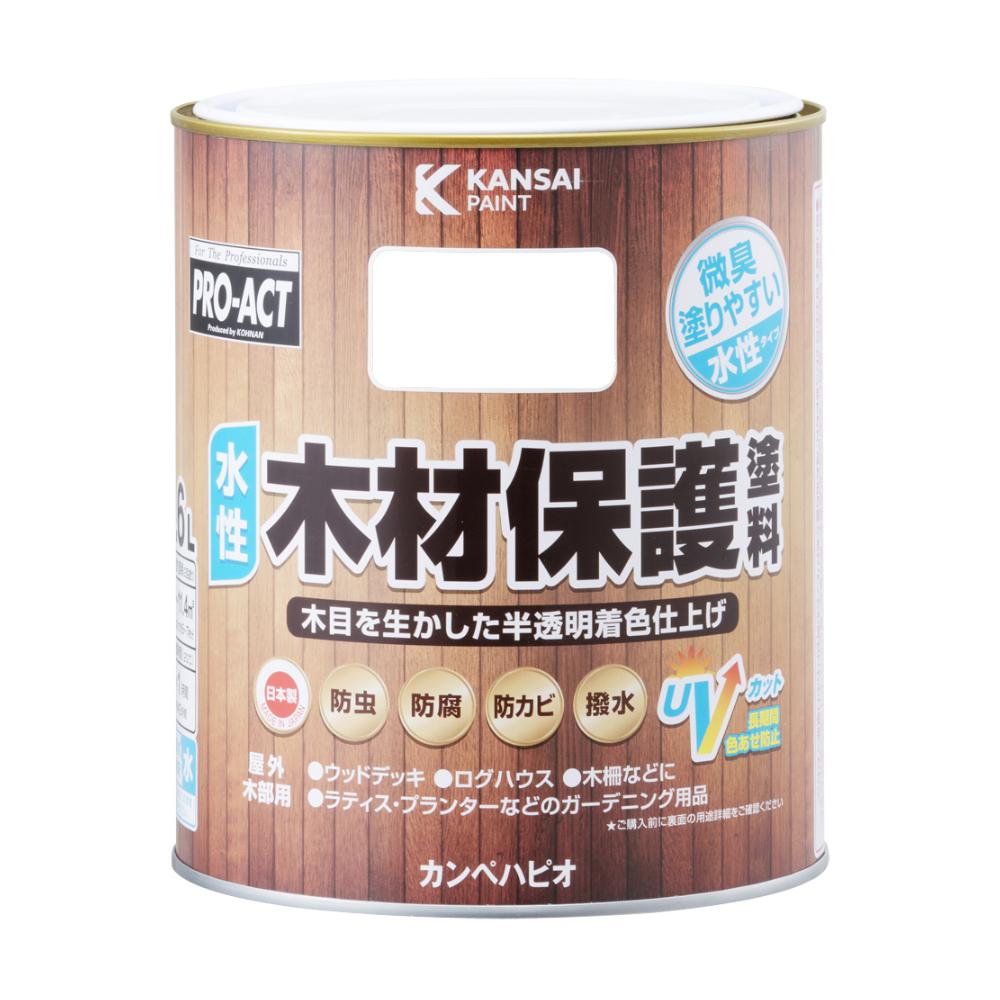 コーナン オリジナル PROACT 水性木材保護塗料 1.6L とうめい