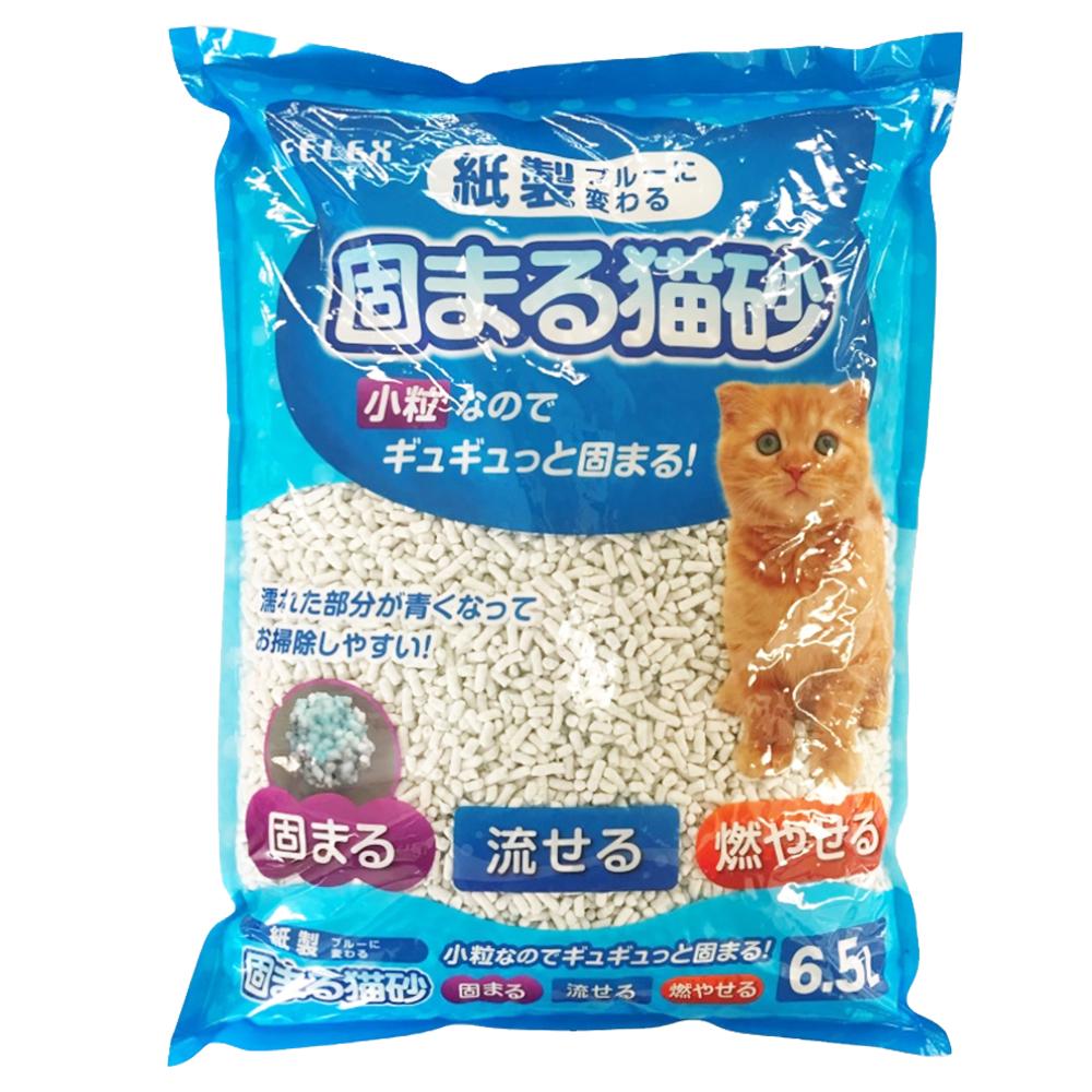 ☆☆ ライフレックス紙製 固まる猫砂小粒ブルー 6.5L