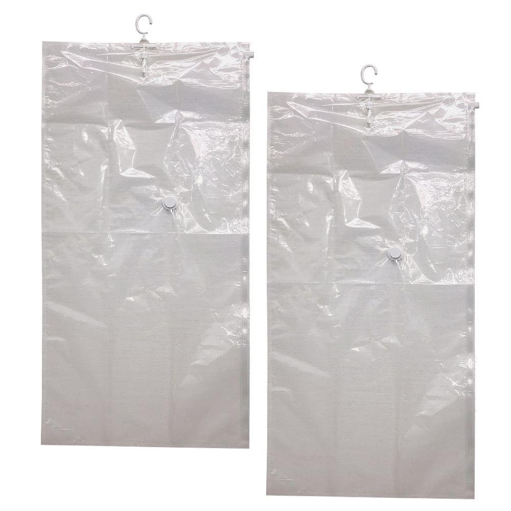 フック付衣類圧縮袋 2枚組 0390056