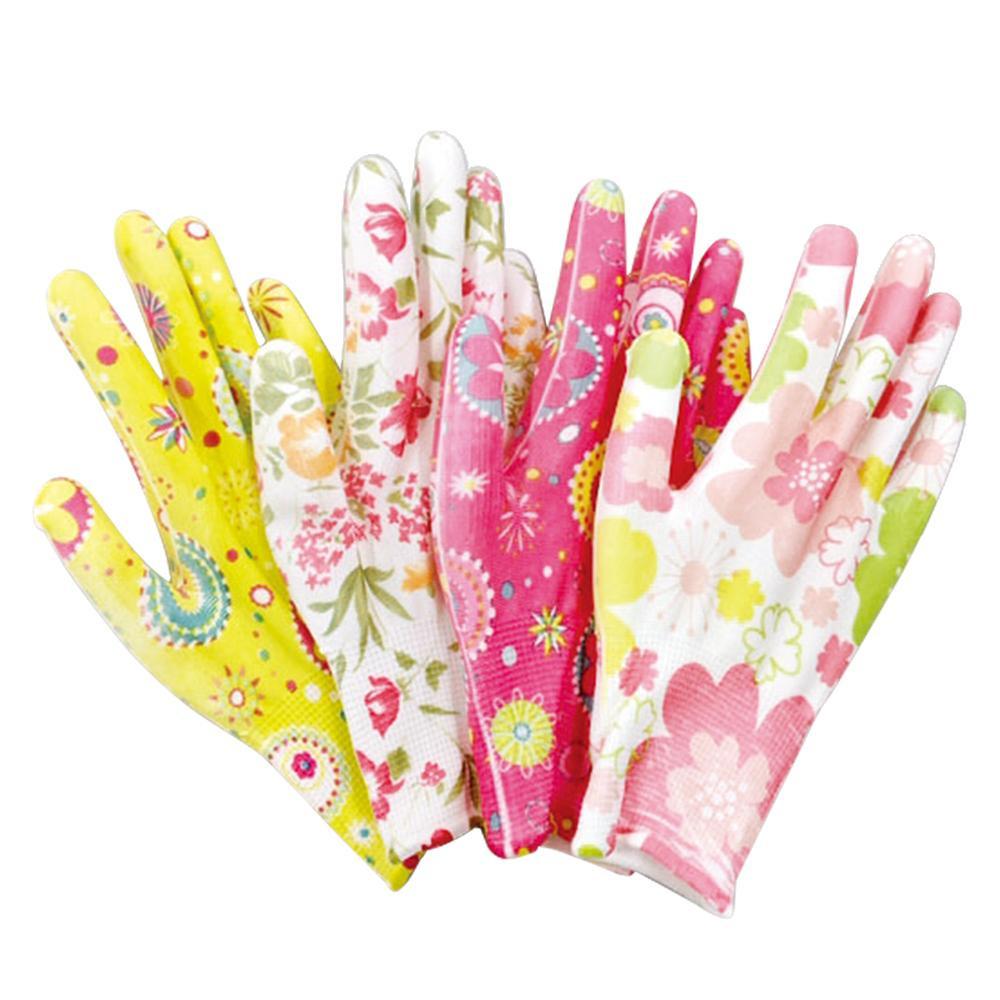 華やか花柄ガーデン手袋(4柄組) 0390063