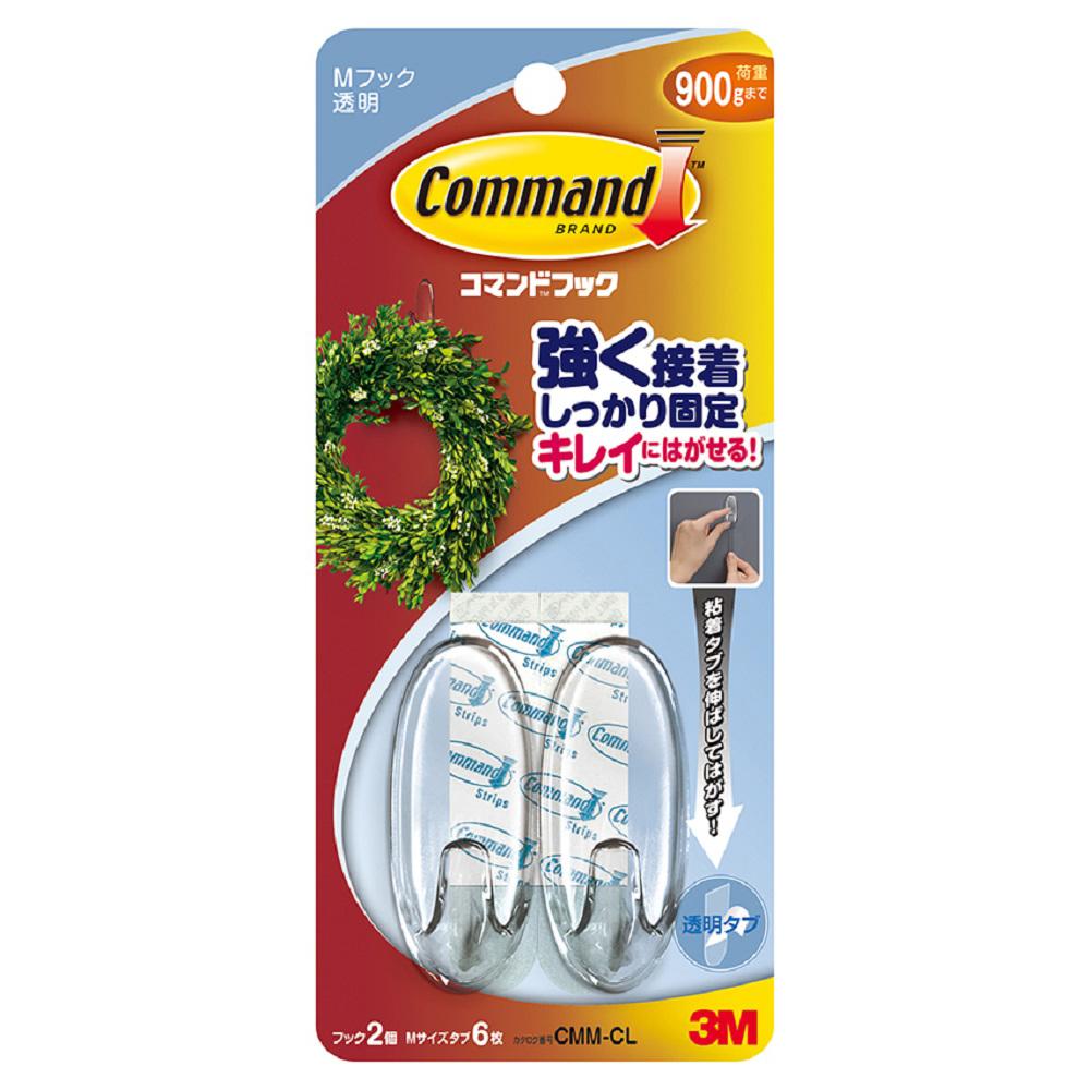 3M(スリーエム) コマンドフッククリアMサイズ CMM−CL