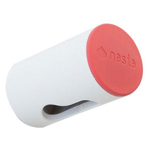 ナスタ(NASTA) 屋内物干AirDot(エアドット) 壁面下地取付用 KS−NRP022−WRホワイト×レッド 本体:奥行5cm 本体:高さ3cm 本体:幅3cmバインドタッピンねじ1本付
