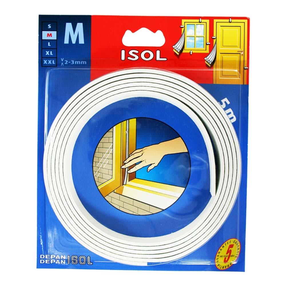 すきま風防止テープ M ホワイト 2.5m 2本 BE1158E-9000HC