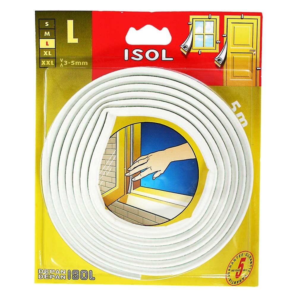 すきま風防止テープ L ホワイト 2.5m 2本 BE1159E-9000HC