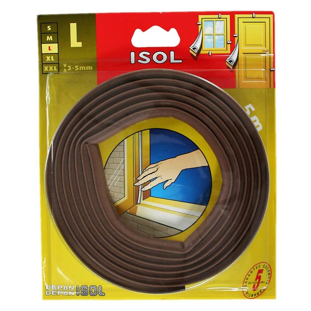 すきま風防止テープ L ブラウン 2.5m 2本 BE1159E-9001HC