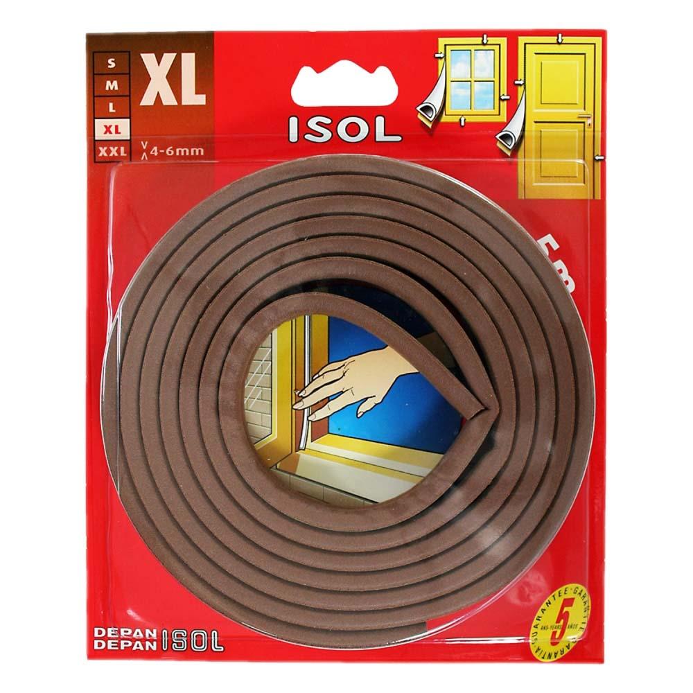 すきま風防止テープ XL ブラウン 2.5m 2本 BE1160E-9001HC