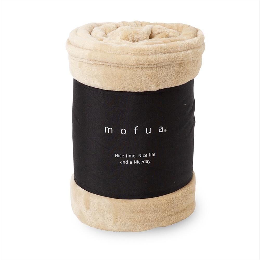 mofua プレミアムマイクロファイバー毛布 シングル ベージュ 50000105-S-BE