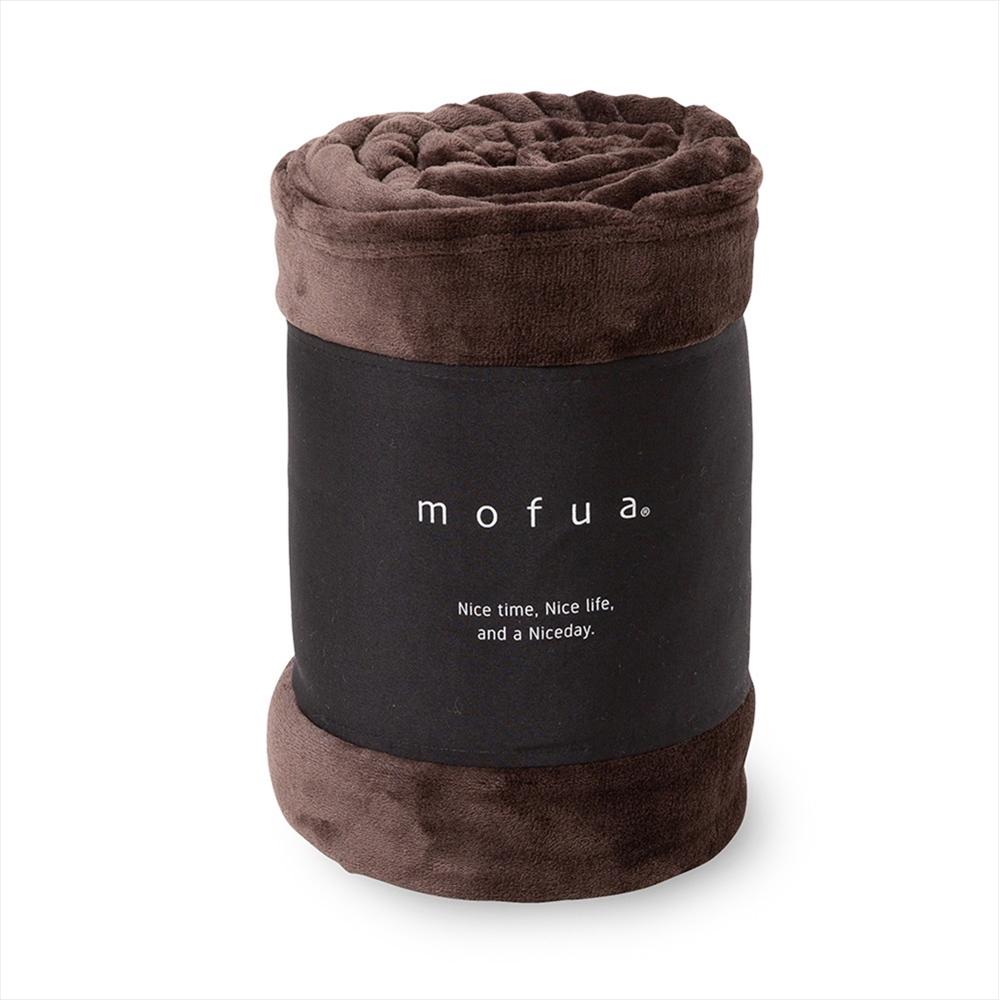 mofua プレミアムマイクロファイバー毛布 シングル ブラウン 50000106-S-BR