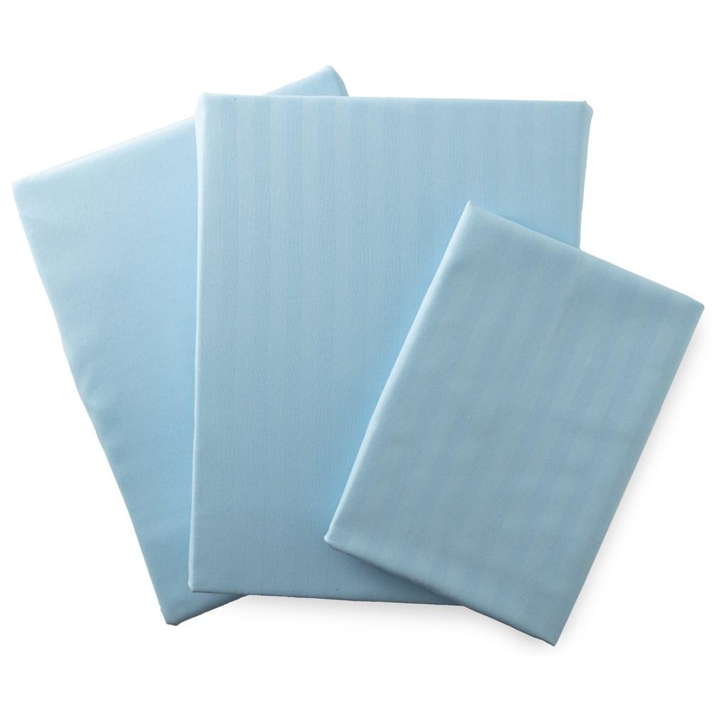 ホテルタイプ 布団カバー3点セット (ベッド用)  シングル ブルー 55970102-S-BL