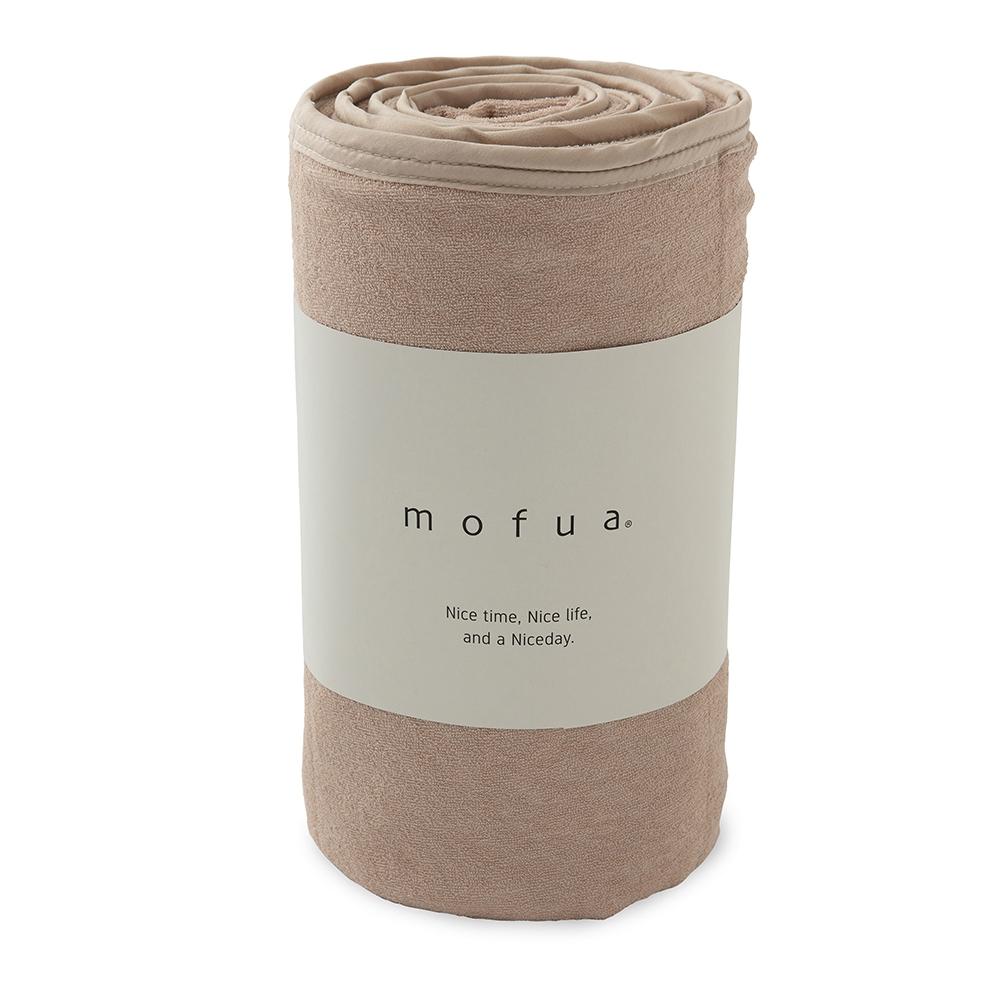 mofua cool 接触冷感・ふんわりタオル地 エアーケット(リバーシブルタイプ) シングル ベージュ 31750105-S-BE
