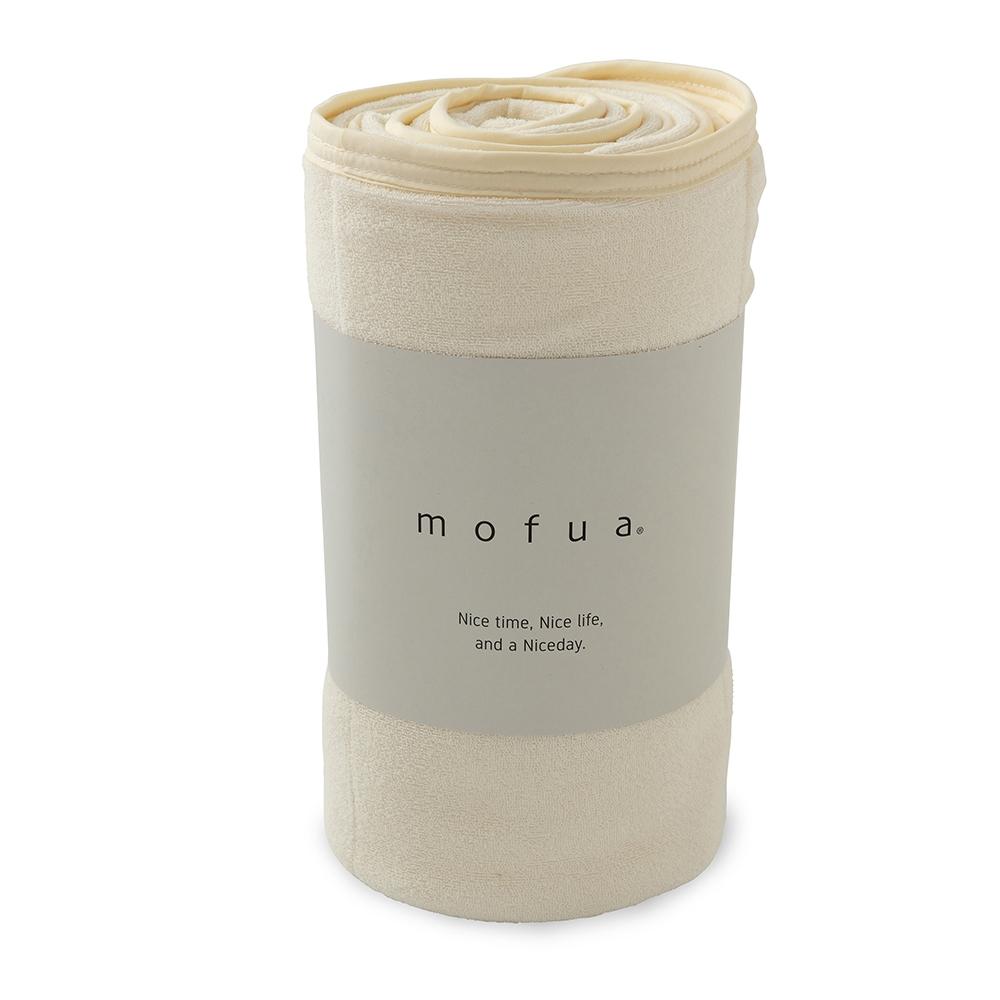 mofua cool 接触冷感・ふんわりタオル地 エアーケット(リバーシブルタイプ) シングル アイボリー 31750108-S-IV