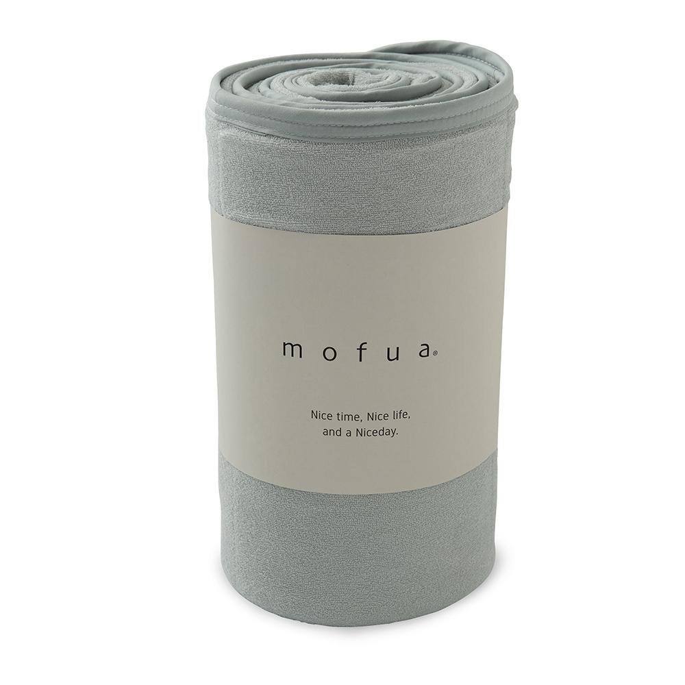 mofua cool 接触冷感・ふんわりタオル地 エアーケット(リバーシブルタイプ) ダブル グレー 31750313-D-GRY