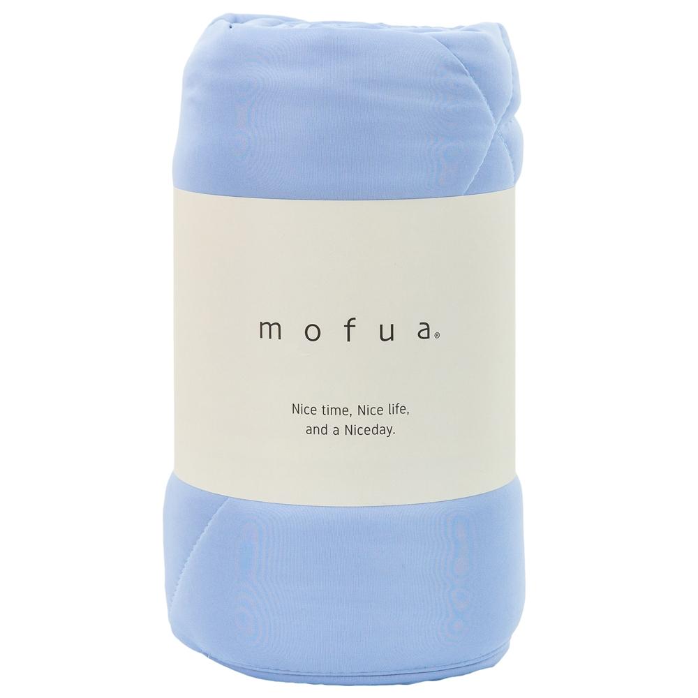 mofua 雲につつまれるような やわらかケット ダブル ブルー 31200344-D-BL