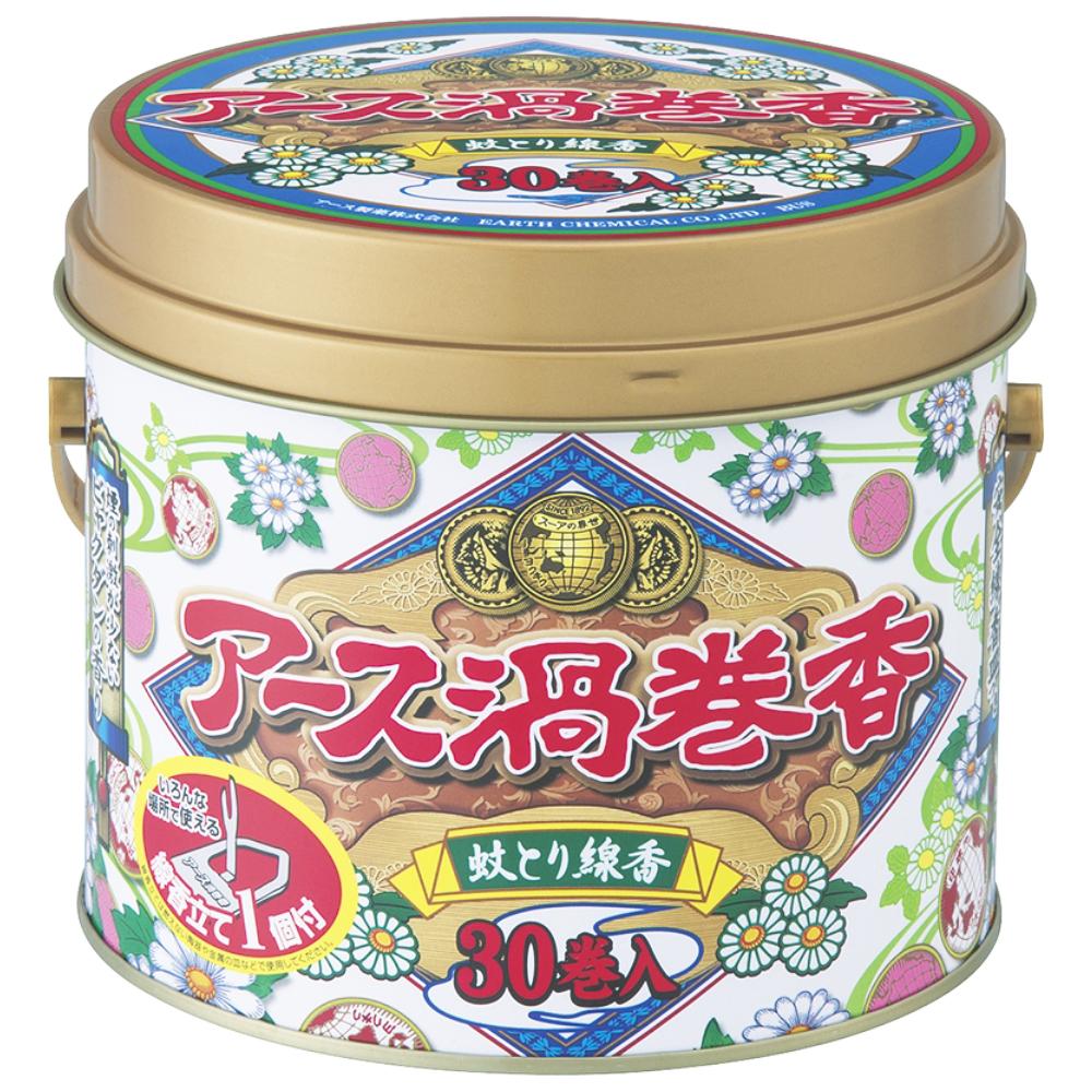 アース製薬アース渦巻香30巻 缶入
