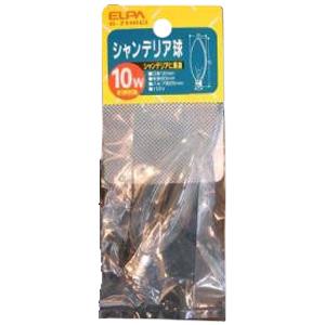 シャンデリア球 口金12mm 10W クリア G−71H