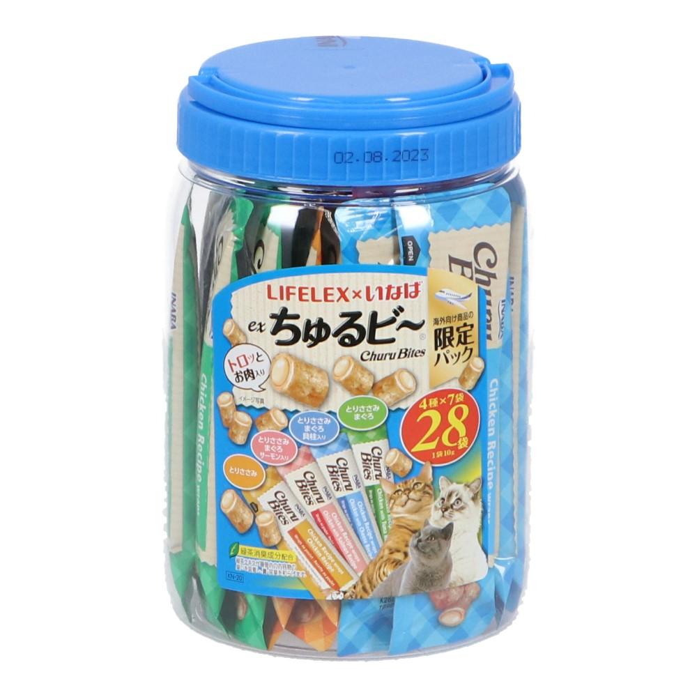 コーナン オリジナル LIFELEX × いなば EX猫ちゅるピ〜 10g×28本入 とりささみバラエティ