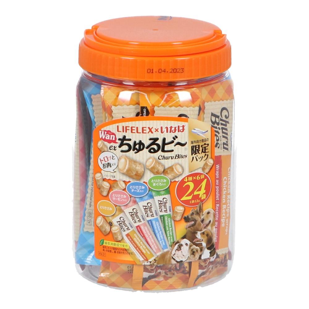 コーナン オリジナル LIFELEX × いなば EXWanちゅるピ〜 12g×24本入 とりささみバラエティ