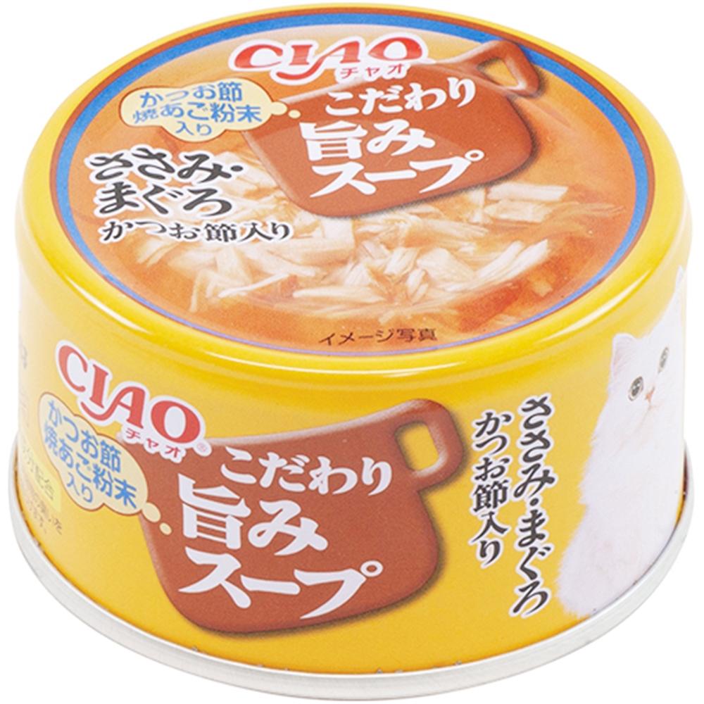 いなばペットフード チャオ 旨みスープ ささみ・まぐろ かつお節80g