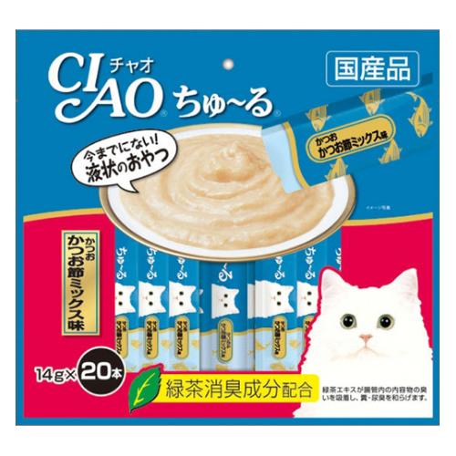 いなばペットフード チャオ ちゅ〜る徳用かつお節 ミックス味 20P