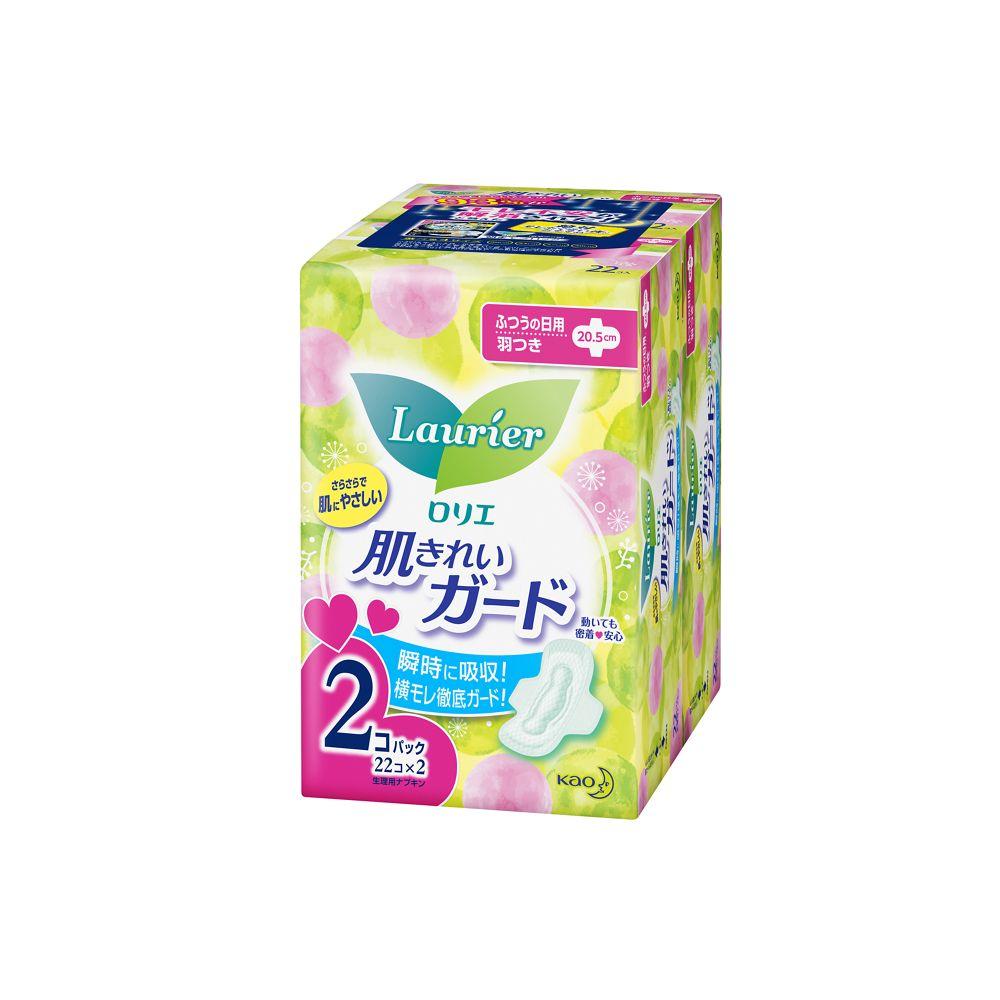 花王 ロリエ 肌きれいガード ふつうの日用 羽つき [22コ入×2]
