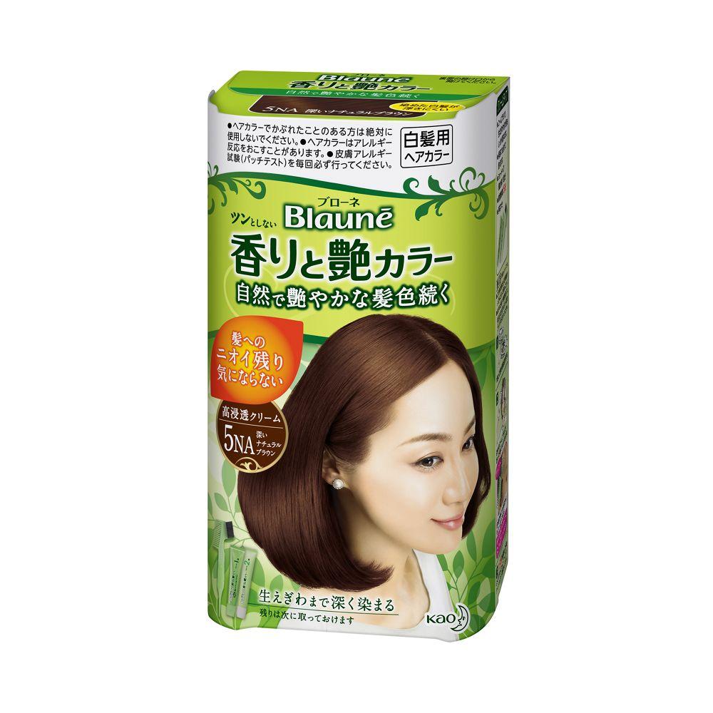 花王 ブローネ 香りと艶カラー クリーム 5NA:深いナチュラルブラウン