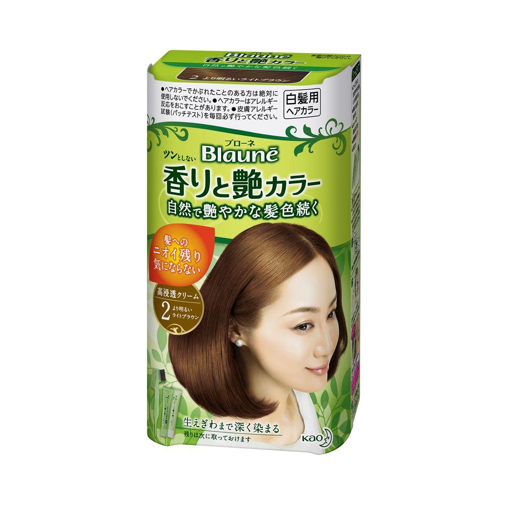 花王 ブローネ 香りと艶カラー クリーム 2:より明るいライトブラウン