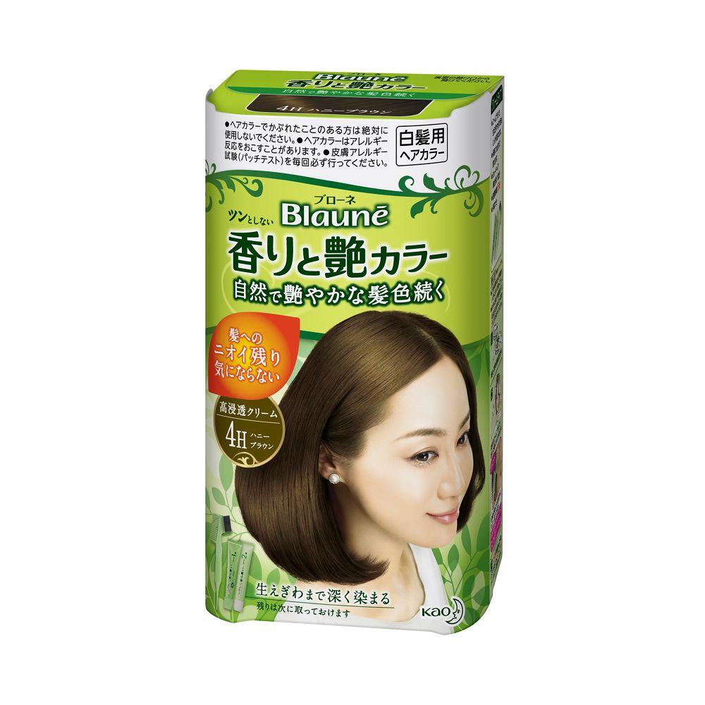花王 ブローネ 香りと艶カラー クリーム 4H:ハニーブラウン