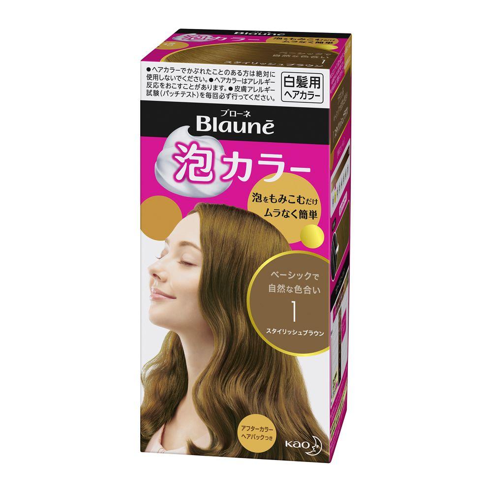 花王 ブローネ 泡カラー 1:スタイリッシュブラウン