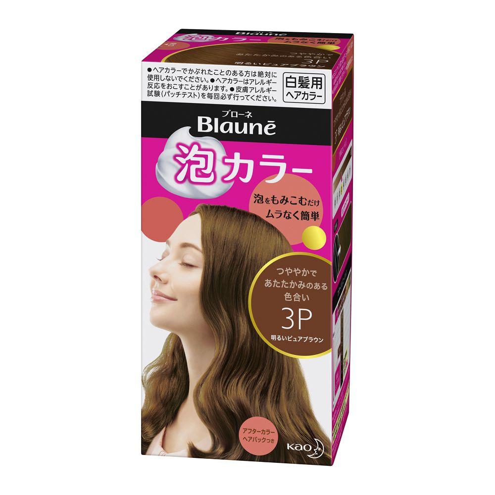 花王 ブローネ 泡カラー 3P:明るいピュアブラウン