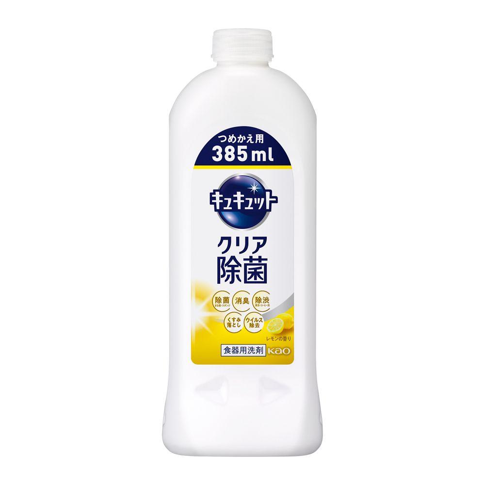 花王 キュキュット クリア除菌 レモンの香り 【つめかえ用 385ml】
