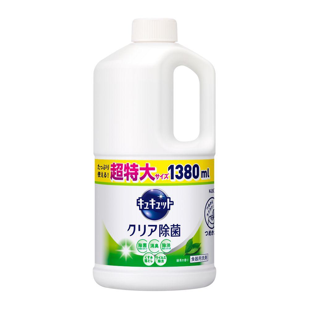 花王 キュキュット クリア除菌 緑茶の香り [つめかえ用 1380ml]