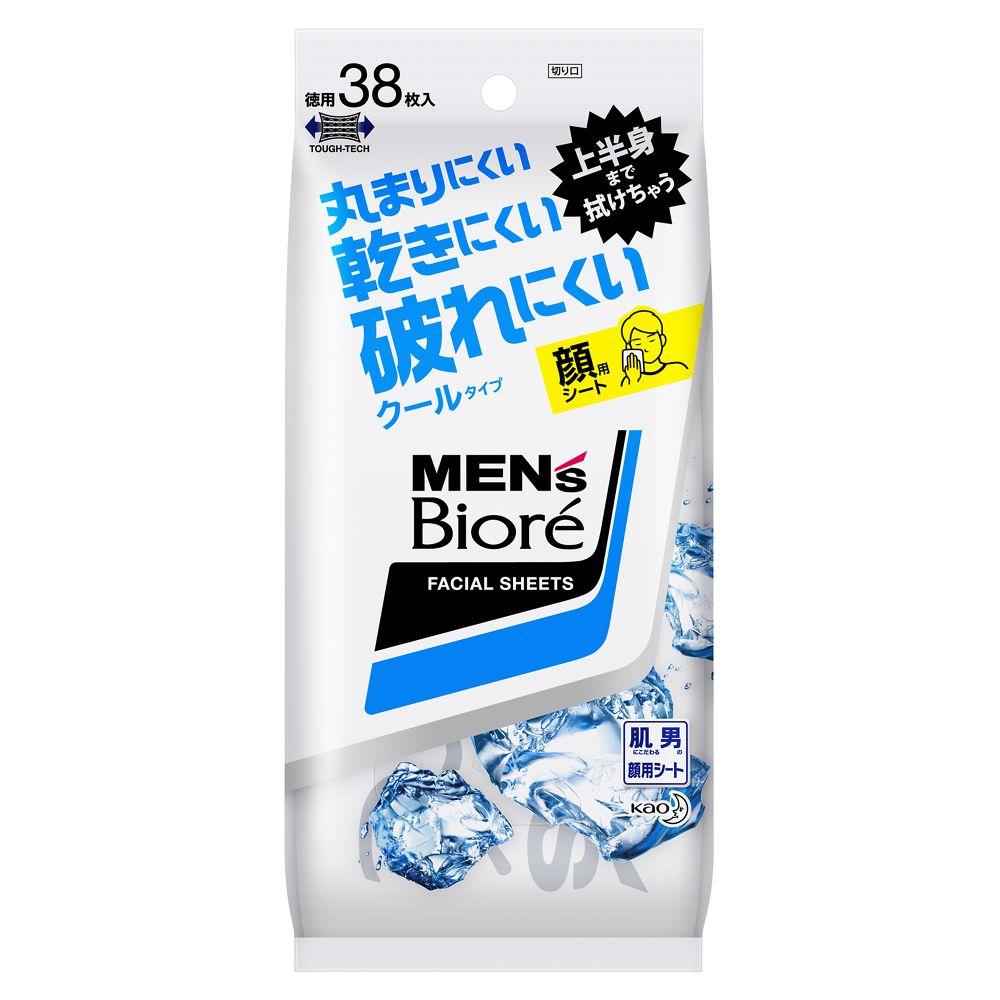 花王 メンズビオレ 洗顔シート クールタイプ [38枚入(卓上用)]