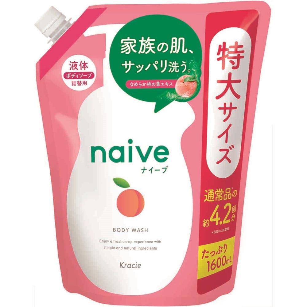 ナイーブ ボディソープ 桃の葉エキス配合 詰替用 1600ml