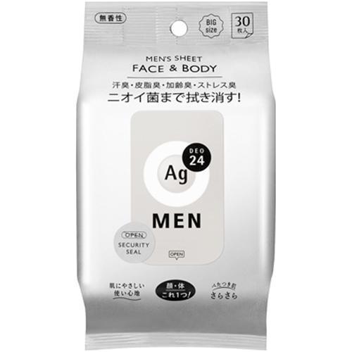 エージー24メン メンズシート フェイス&ボディ(無香性)30