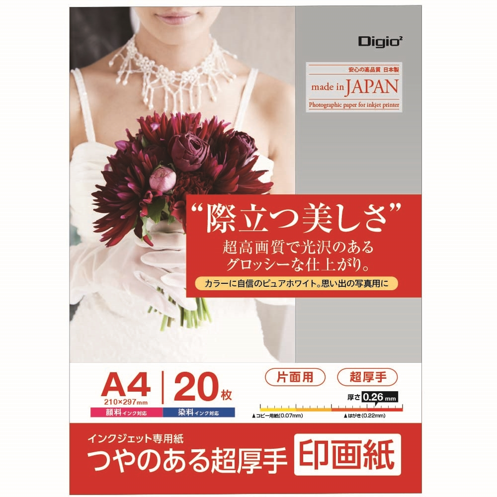 ナカバヤシ(Nakabayashi)  印画紙A4 20枚 JPSK2−A4−20