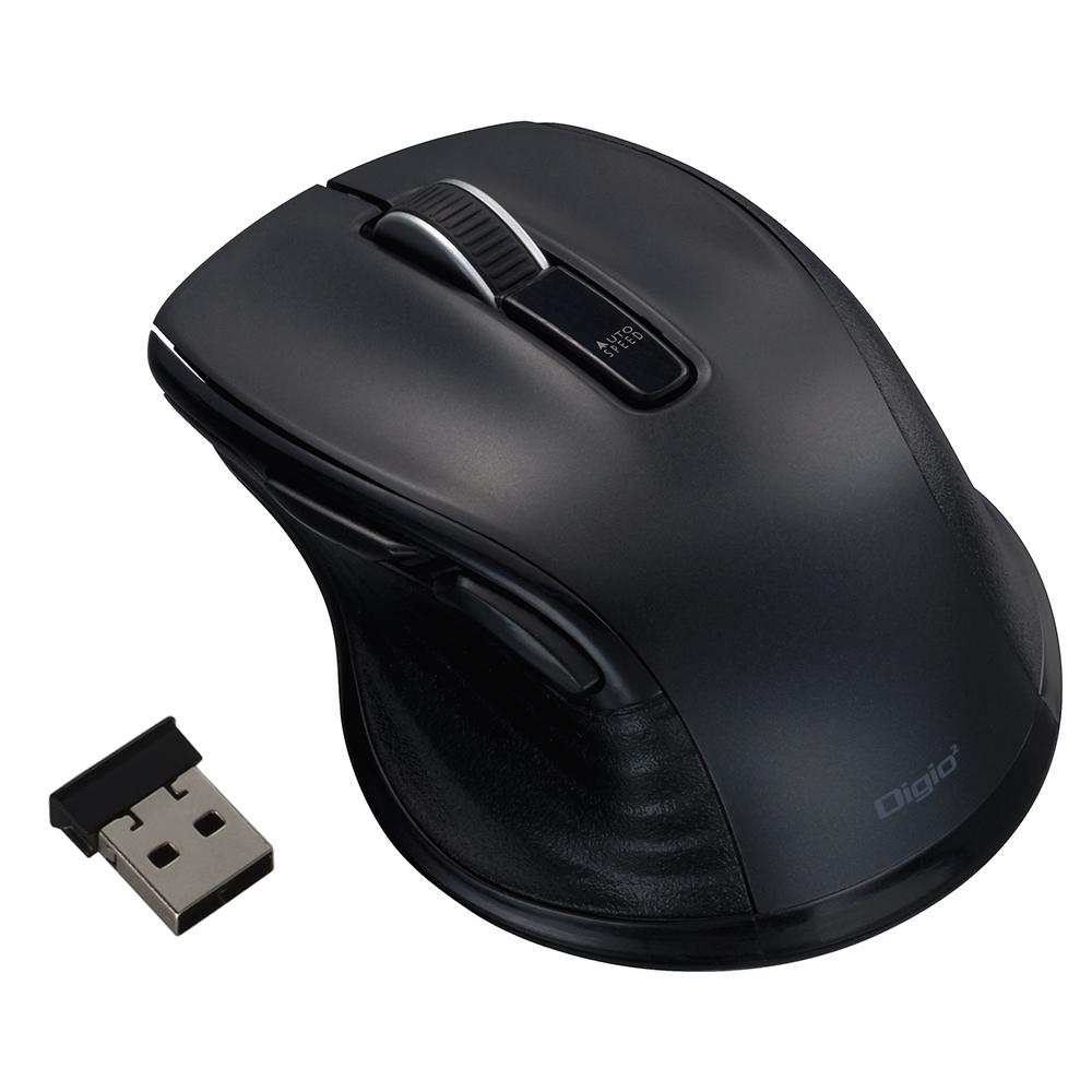 ナカバヤシ(Nakabayashi)  小型無線静音5ボタンBlueLEDマウス/ブラック MUS-RKF141BK