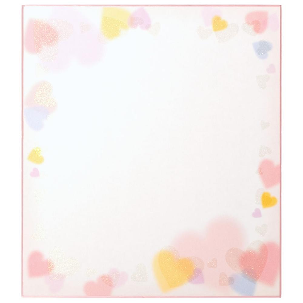 カラー色紙 ラメハート柄 33115006