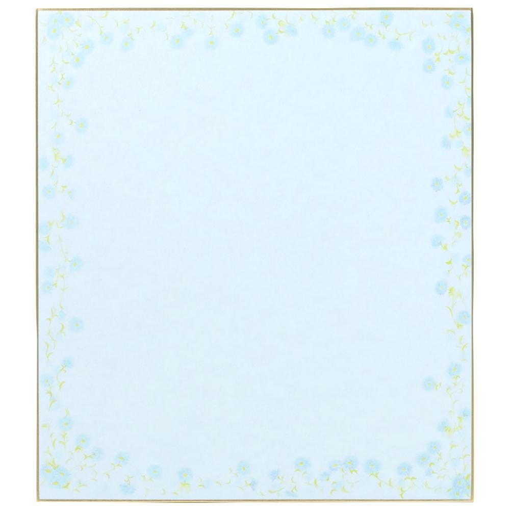 カラー色紙 小花柄ブルー 33123006