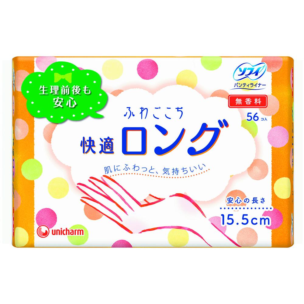 ユニ・チャーム ソフィ ふわごこち 快適ロング 無香料 56コ入(unicharm Sofy)