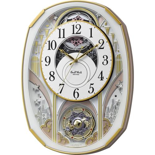 リズム 電波掛時計スモールワールドノエルS ホワイト