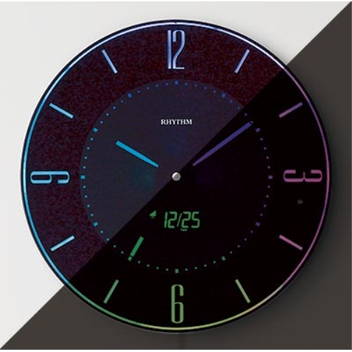 リズム 電波掛時計イロリアA