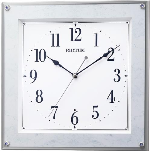 リズム 電波掛時計フィットウェーブミレディM550 マーブル
