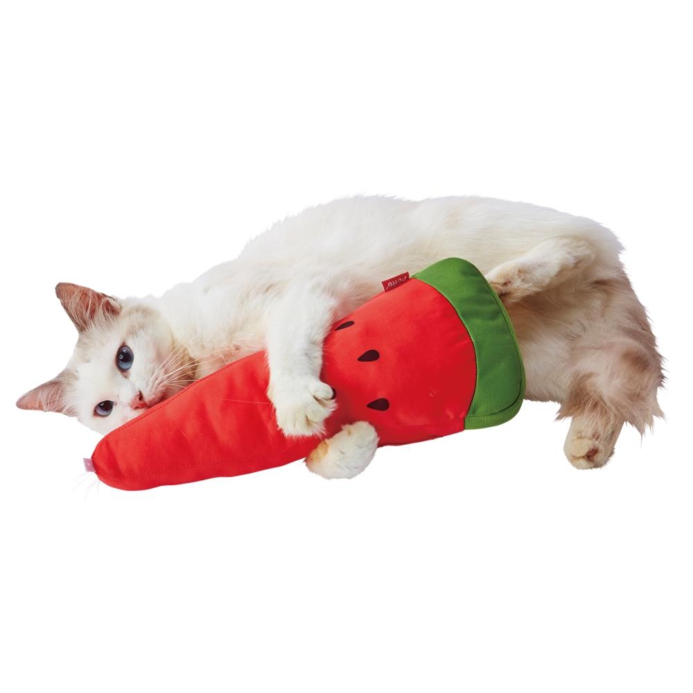 ペティオ 犬猫用 ひんやりけりぐるみスイカ